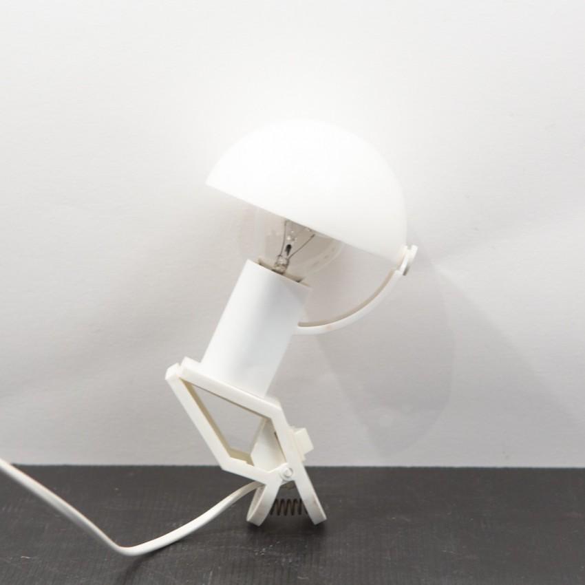 lampe champignon pince blanche sarlam. Black Bedroom Furniture Sets. Home Design Ideas