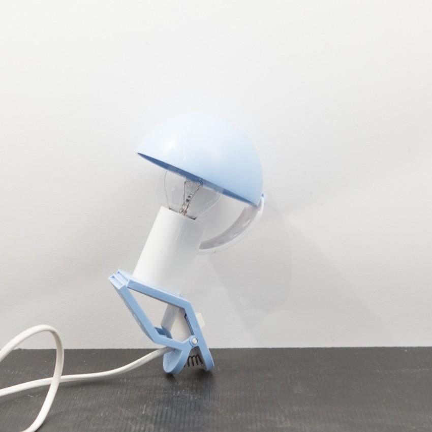 lampe champignon bleue pince sarlam. Black Bedroom Furniture Sets. Home Design Ideas