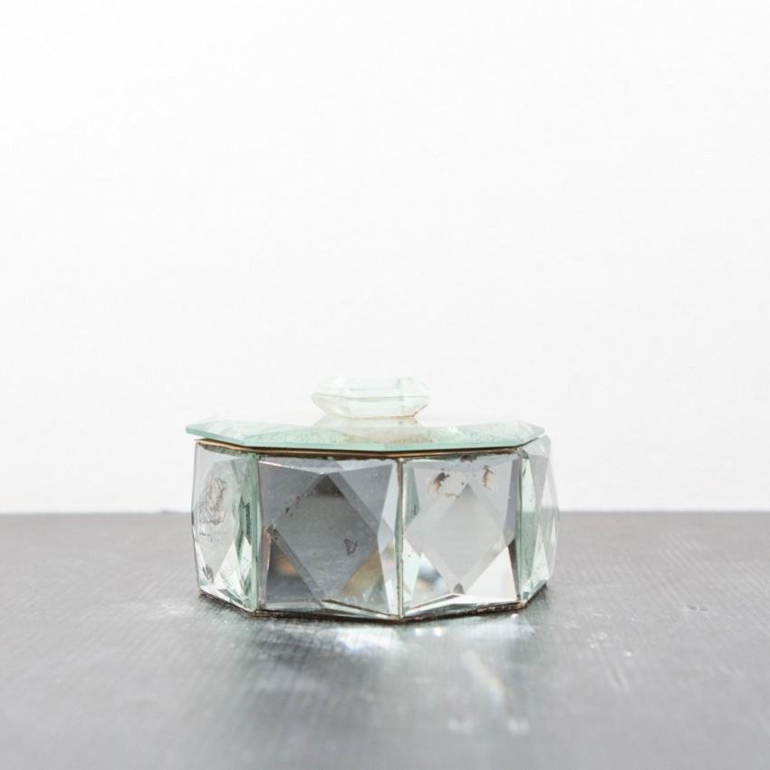 boite bijoux octogonale en miroirs. Black Bedroom Furniture Sets. Home Design Ideas