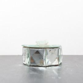 Boite à bijoux octogonale en miroirs