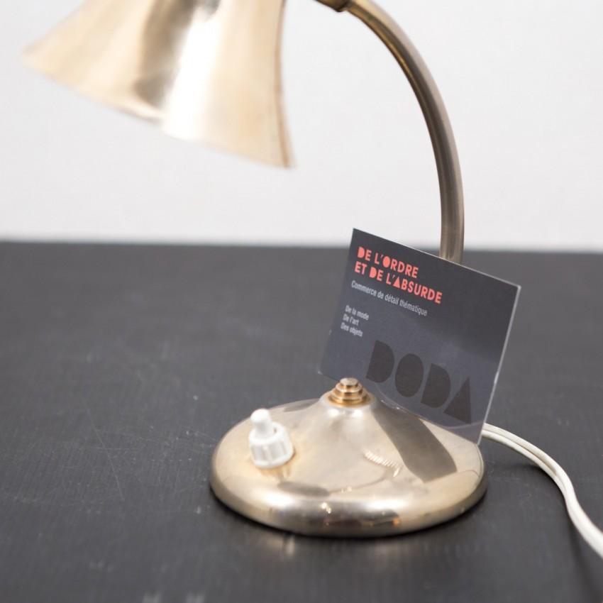 Petite lampe Aluminor dorée
