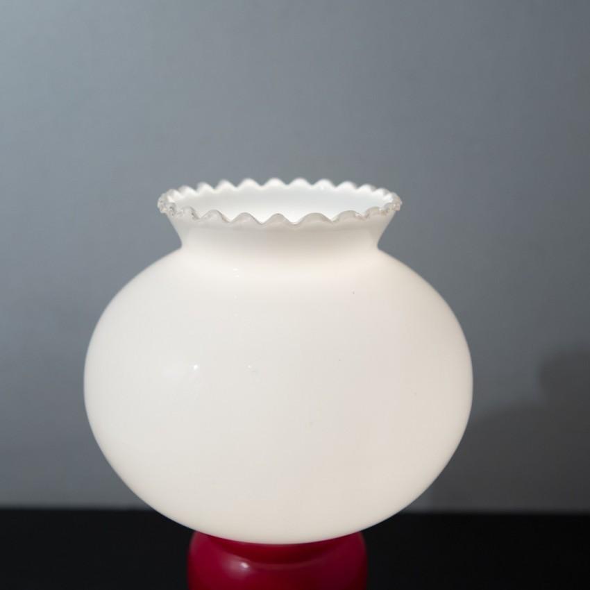 Lampe de chevet bilboquet opaline