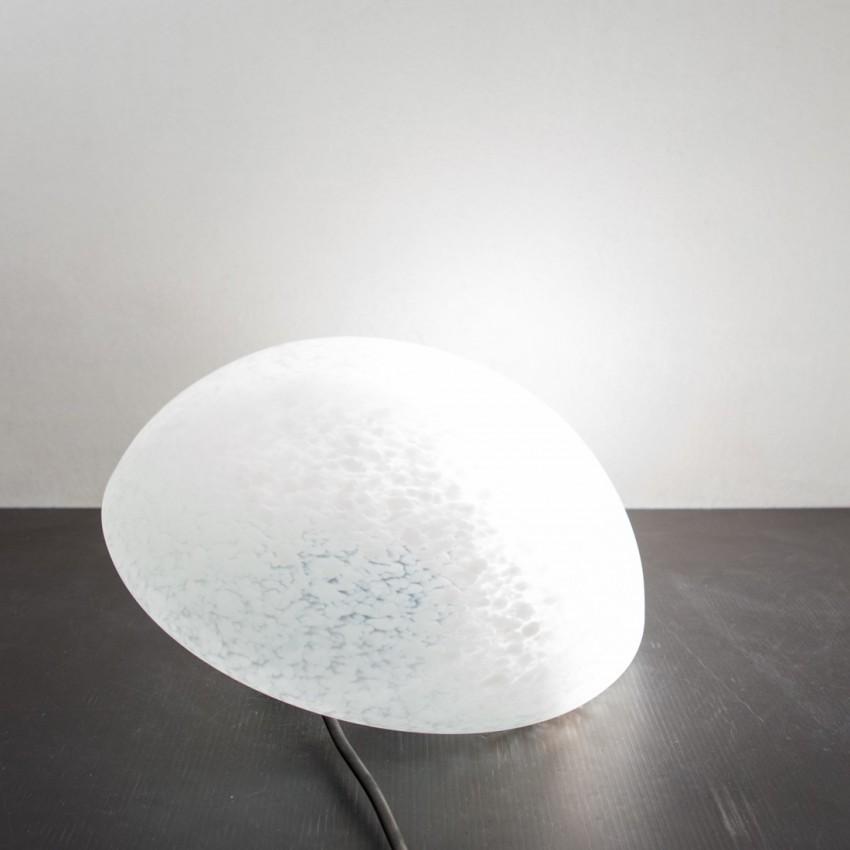 grande applique ronde en verre mouchet. Black Bedroom Furniture Sets. Home Design Ideas