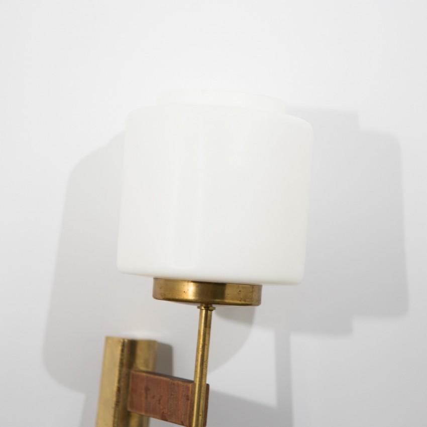 applique laiton opaline bois. Black Bedroom Furniture Sets. Home Design Ideas
