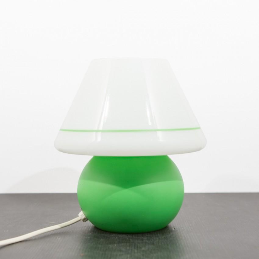 Lampe de chevet en verre vert