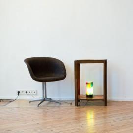 Lampe à poser translucide - 1970