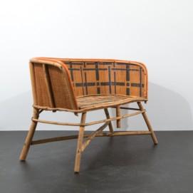 Canapé de poupée en bois