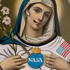 MaThiLdE LeMoNNieR - Jésus et Marie de la NASA (diptyque)