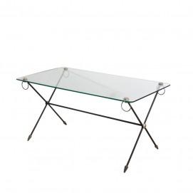 table basse verre et laiton. Black Bedroom Furniture Sets. Home Design Ideas