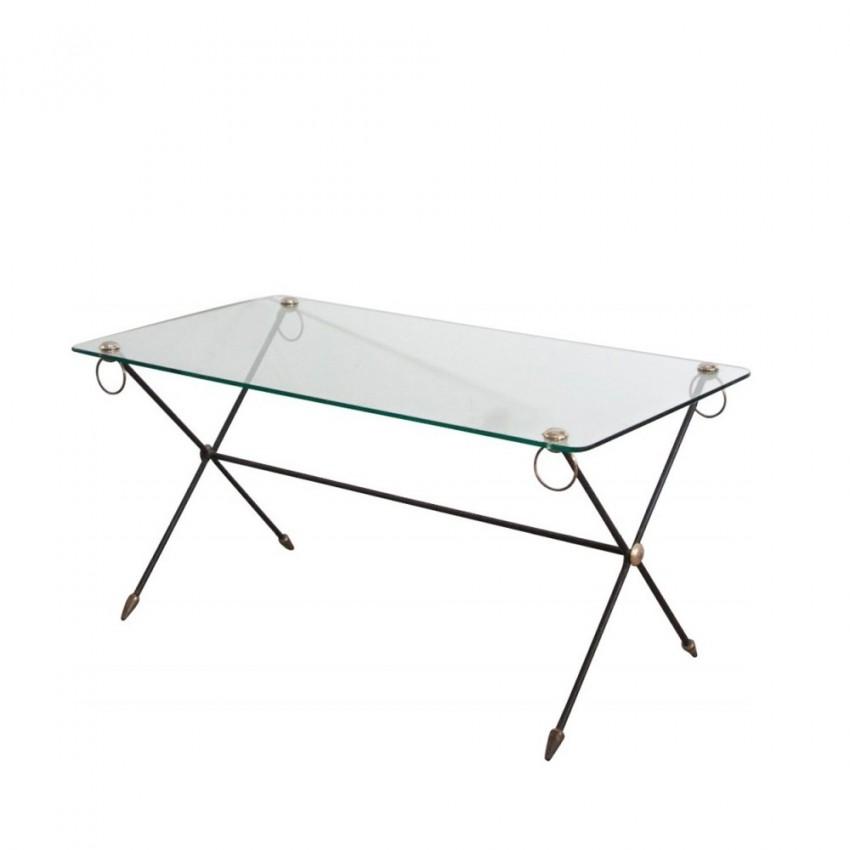 Table basse verre et laiton for Table basse verre et laiton