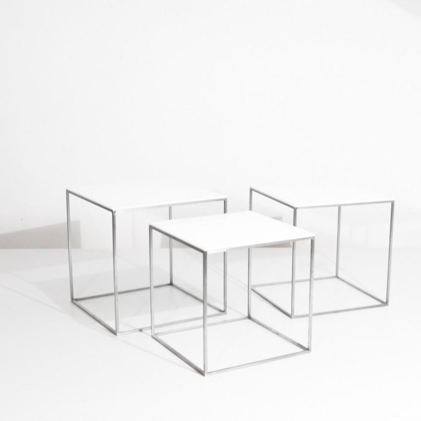 Tables gigognes PK71 - Poul Kjaerholm pour E. Kold Christensen