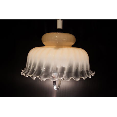 Suspension opaline vintage