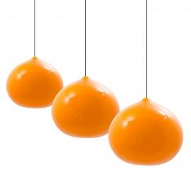 3 suspensions en opaline orange