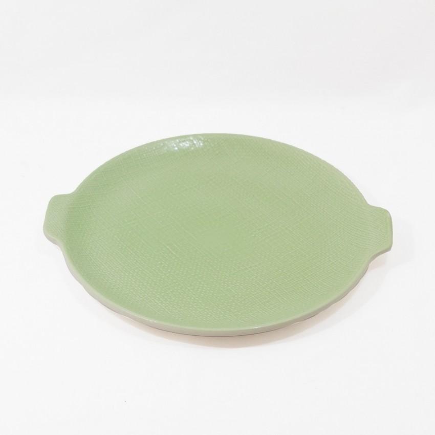 Plat en porcelaine de Salins - Vert pastel