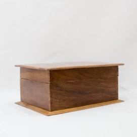 Coffret en bois des années 1950