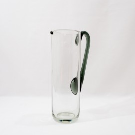 Pichet en verre - et un peu vert