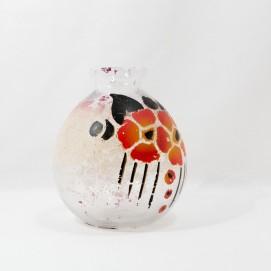 Vase en verre peint