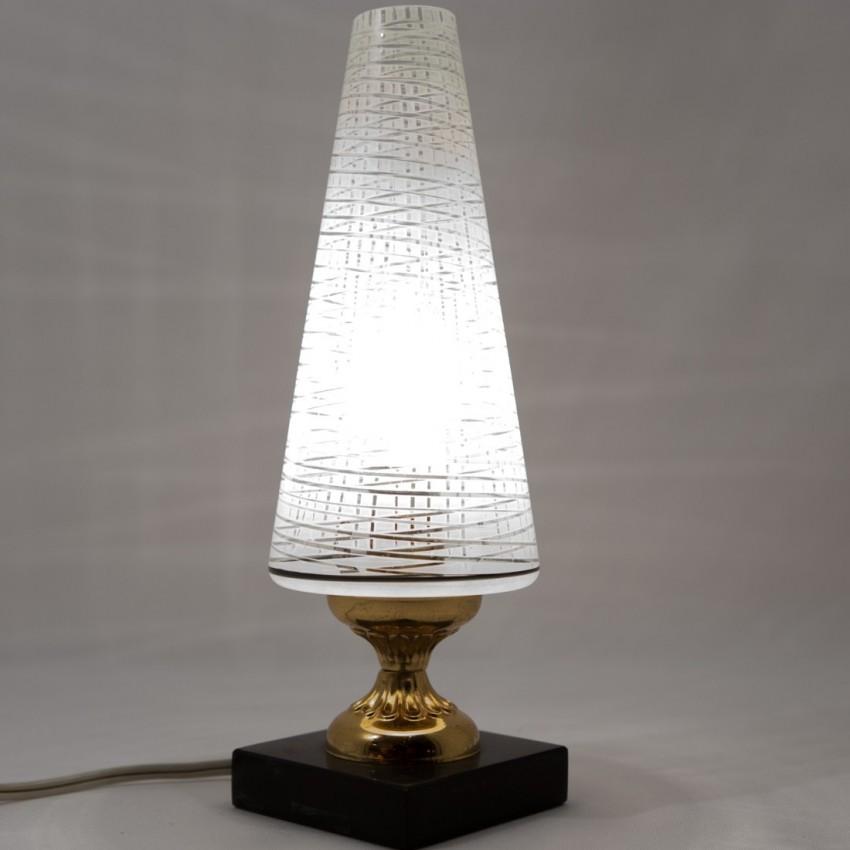 Lampe Art déco - Marbre et verre