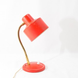 Lampe de bureau ou applique à bras flexible Aluminor rouge