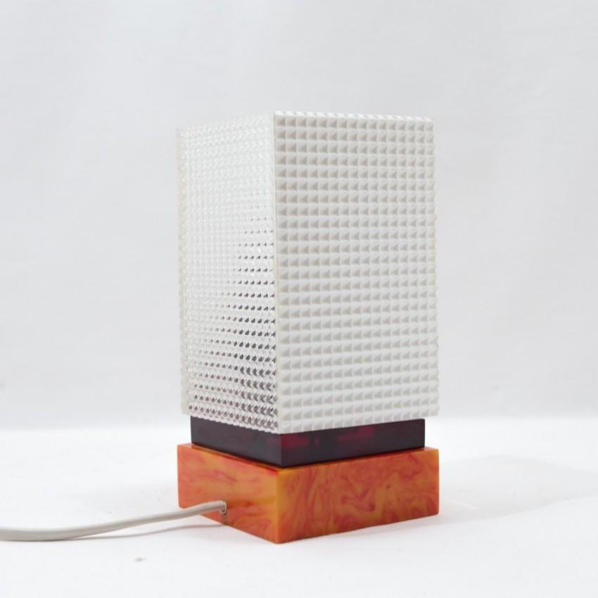 Lampe de bureau en plastique - Design allemand des annnées 1970