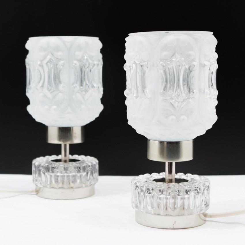 Paire de lampes en verre - 1950