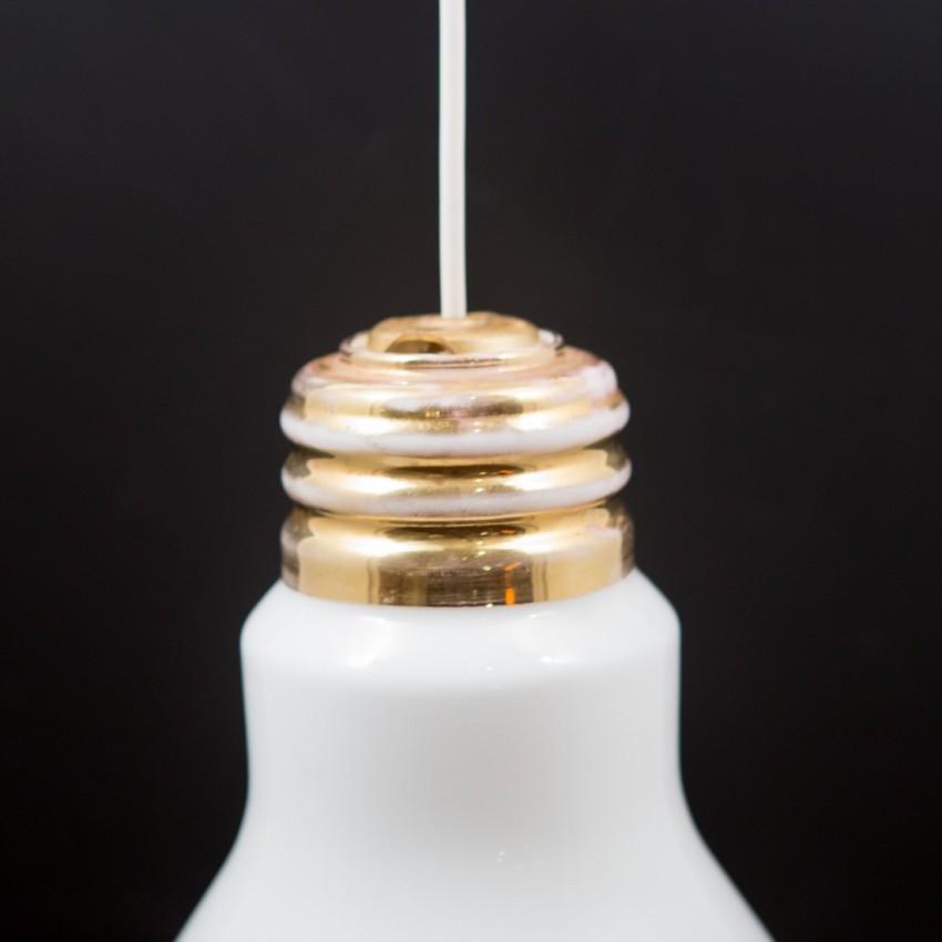 Suspension en forme d'ampoule