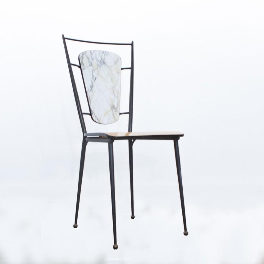 Chaise métal et Formica