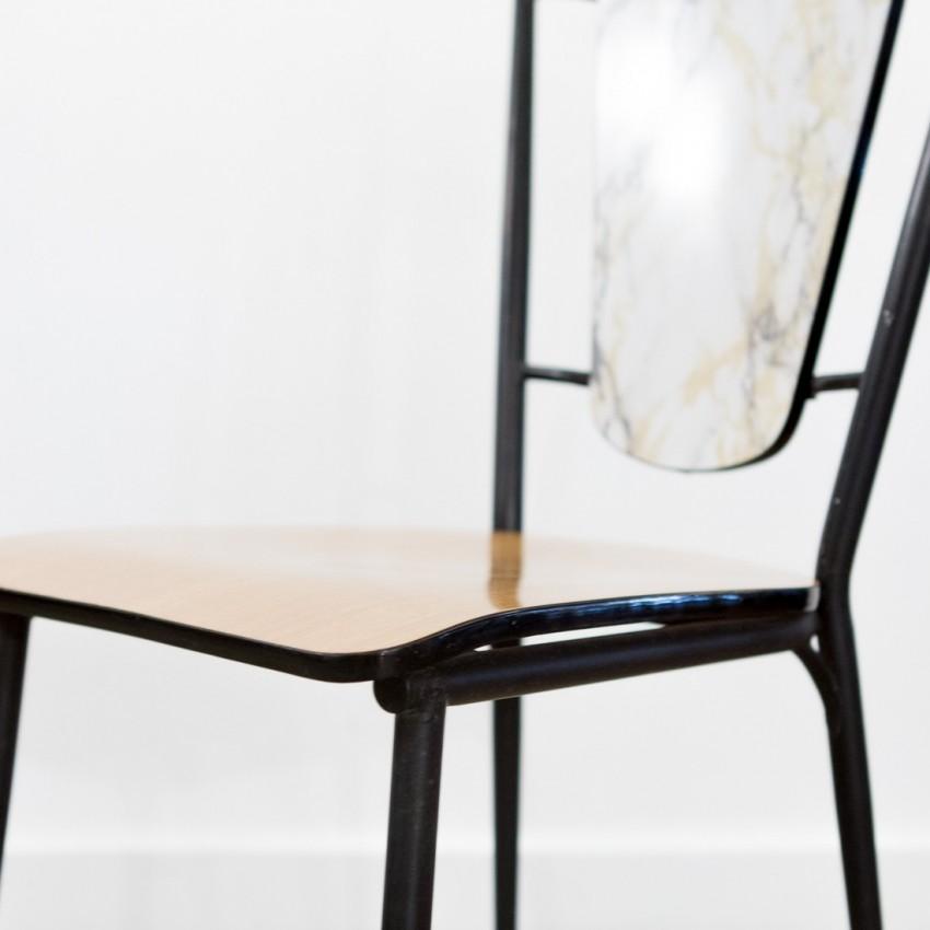 chaise en m tal et formica. Black Bedroom Furniture Sets. Home Design Ideas