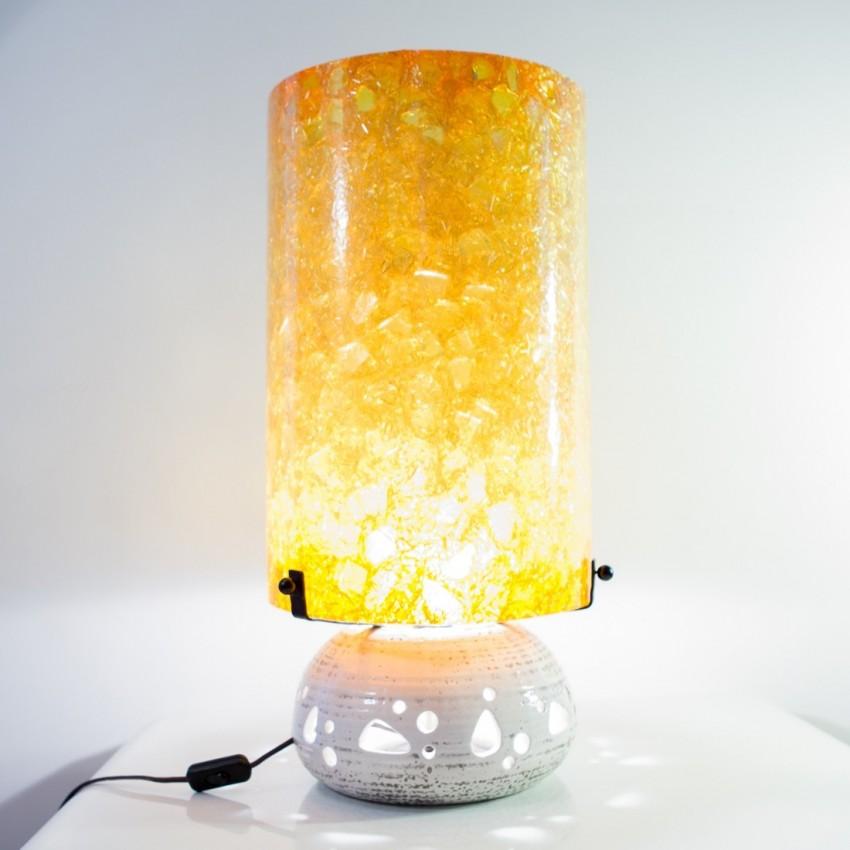 Lampe d'Accolay au diffuseur en résine fractale