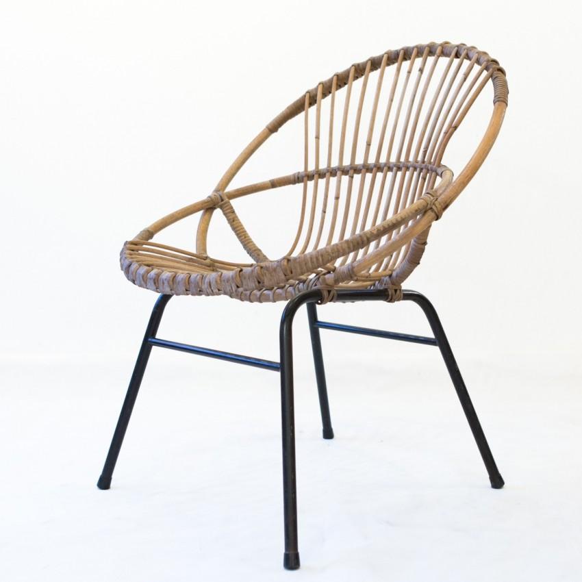 Fauteuil en rotin esquerr - Peindre fauteuil en rotin ...