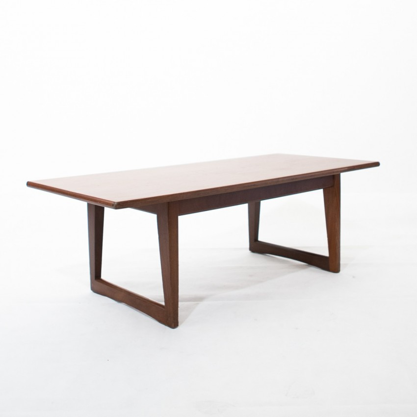 Table basse scandinave en teck for Table scandinave en teck