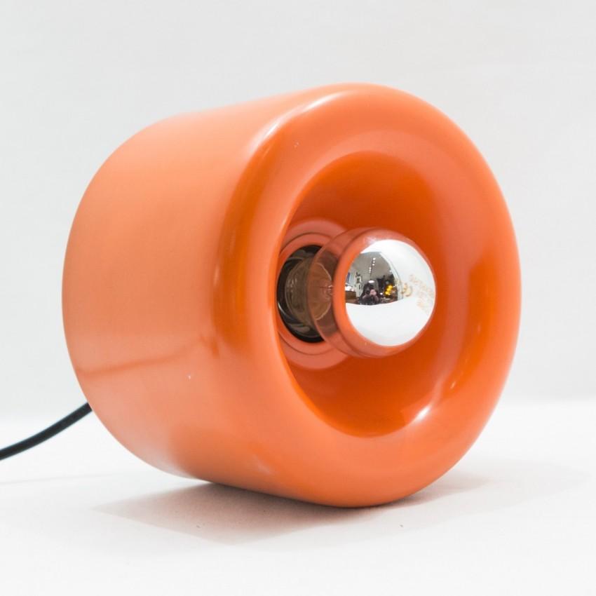 Luminaire cylindrique en tôle orange - Staff