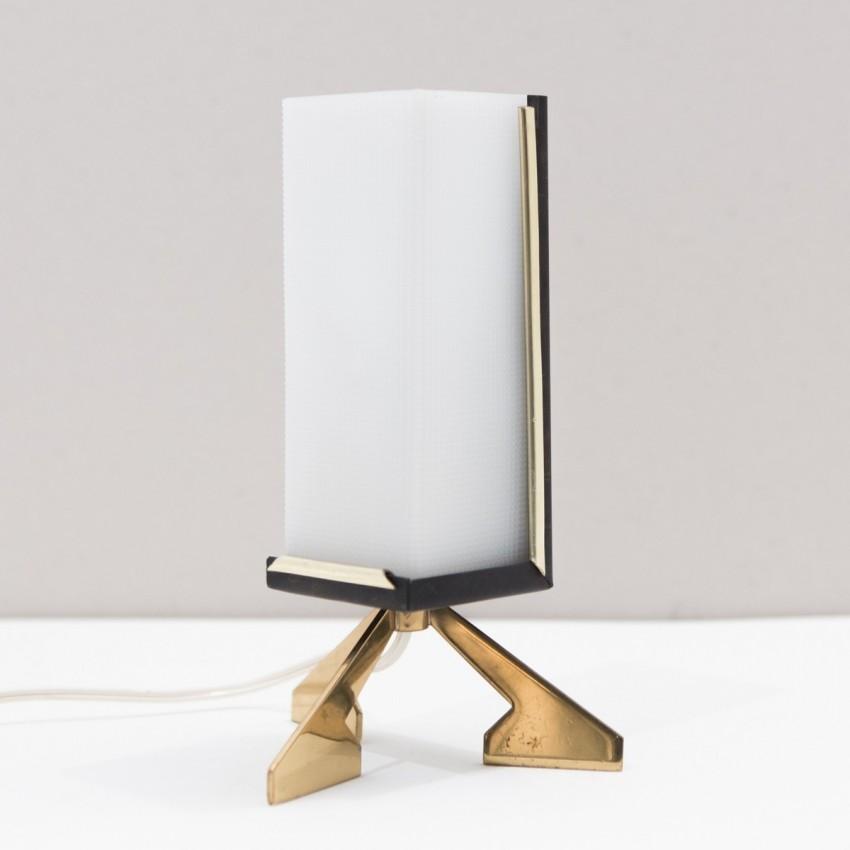 Lampe tripode Plexiglas années 50