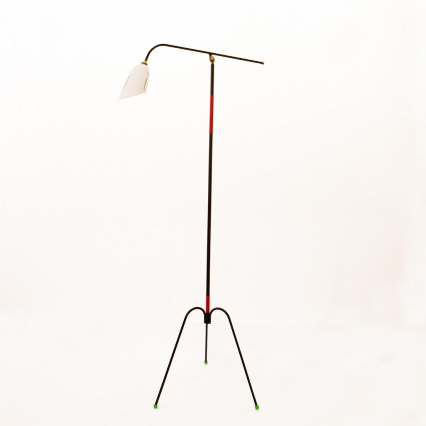 Lampe de sol tripode articulée des années 1950
