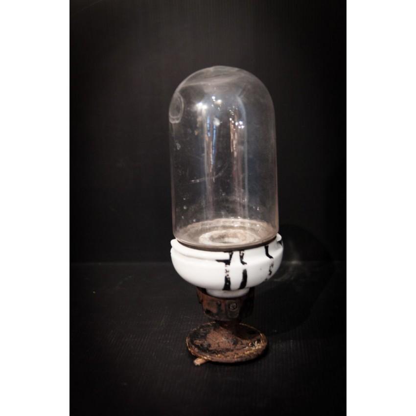 Ancienne applique porcelaine/verre
