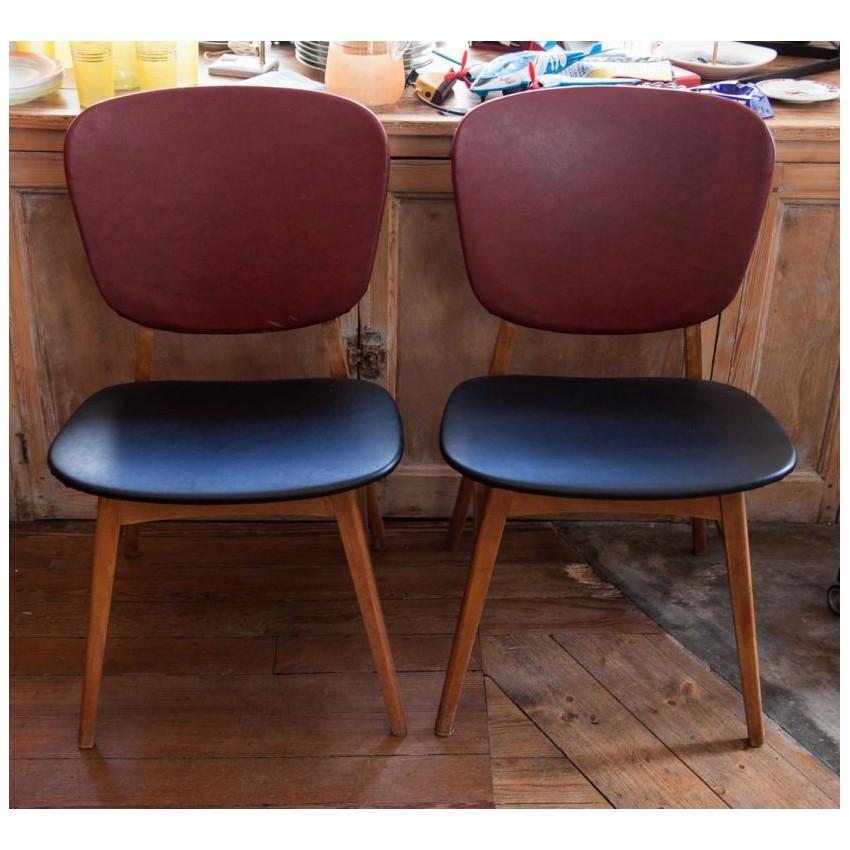 Paire de chaises 1950