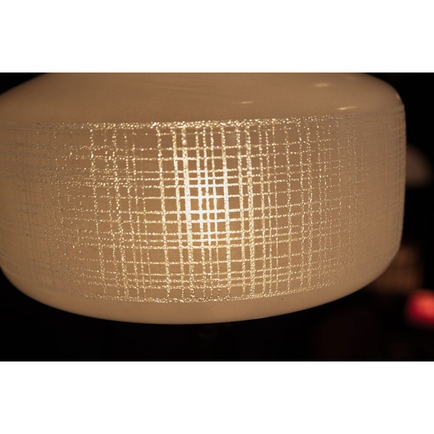 Lampe sur pied fer/opaline