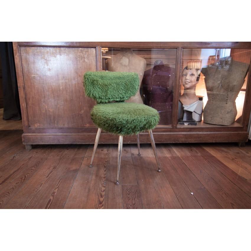 chaise moumoute verte. Black Bedroom Furniture Sets. Home Design Ideas