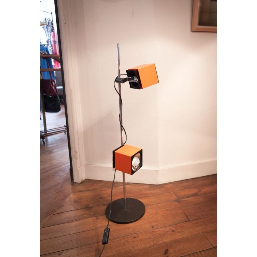 Lampadaire orange vintage