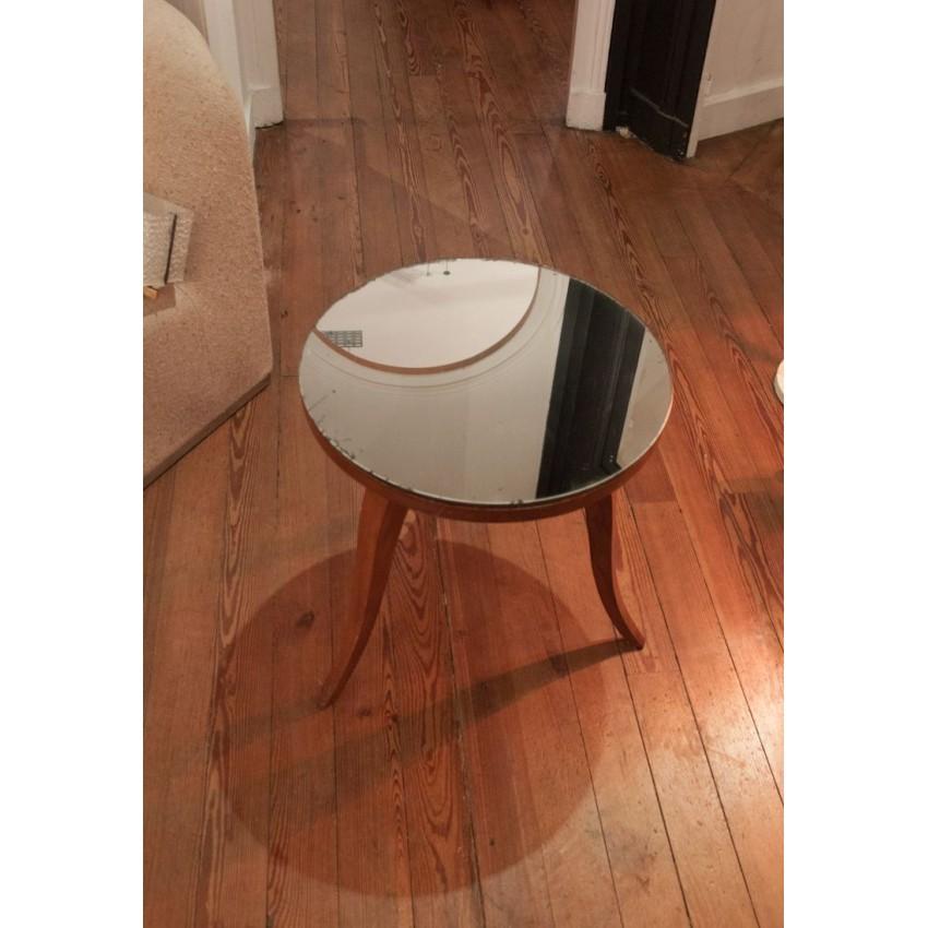 Table en bois/miroir