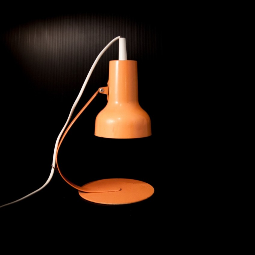 Lampe De Bureau Orange Vintage