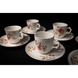 Tasses à café - Porcelaine de Limoges