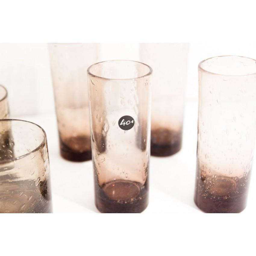 De bons gros verres soufflés vintage