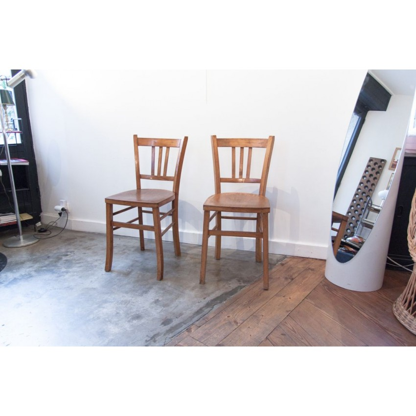 Chaises bistro type LUTERMA et CHARMOILLE