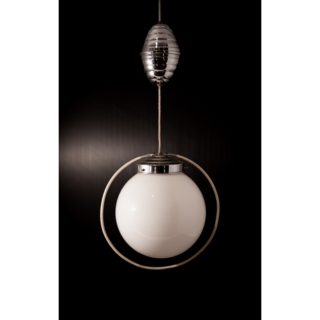 Suspension opaline blanche