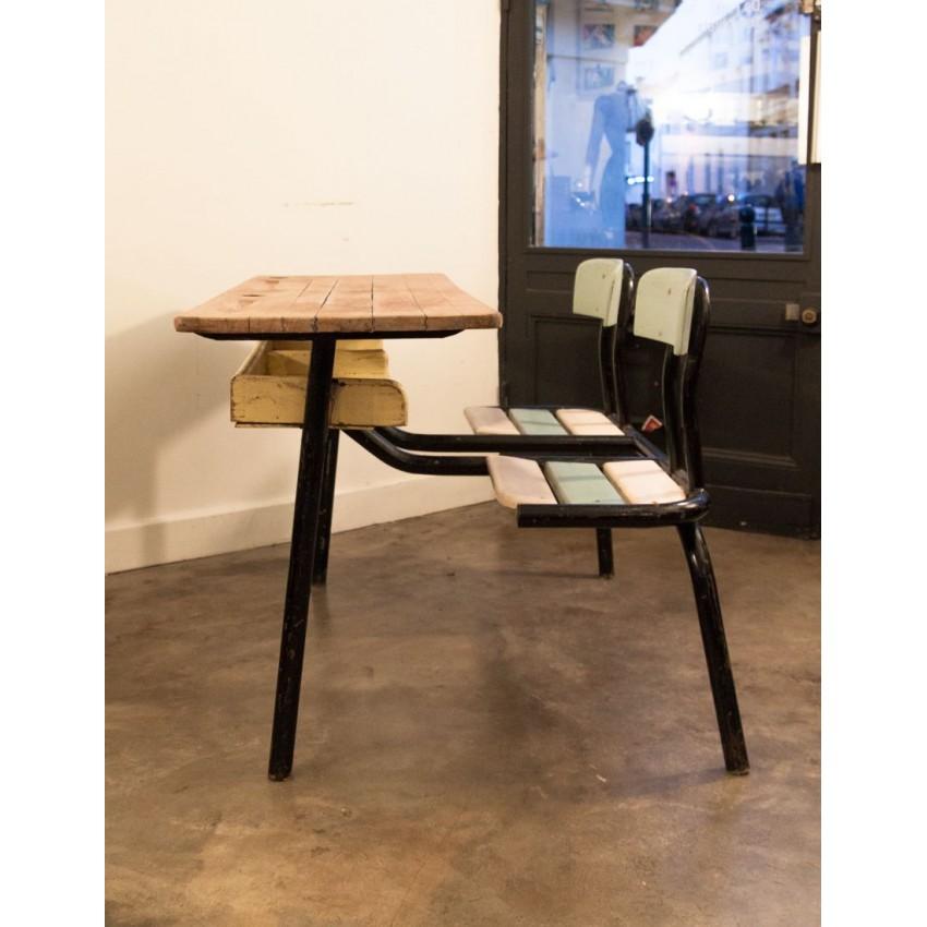 double pupitre d 39 colier ann es 1950. Black Bedroom Furniture Sets. Home Design Ideas